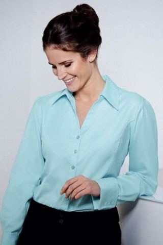 fb2600-long-sleeve-herringbone-open-collar-blouse-teal-front_4